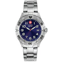 Brigade Watch with Petrol Blue Sunray Dial and Bracelet