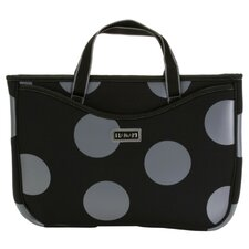 Small Neoprene Laptop Sleeve in Bubbles Gray