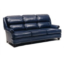 Hi Back Pub Queen Leather Sleeper Sofa