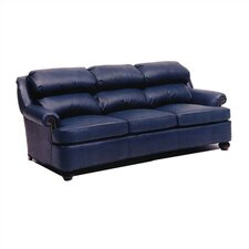 Cushion Back Pub Leather Sleeper Sofa