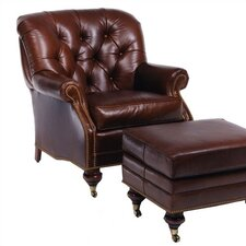 Brentwood Leather Chair and Ottoman