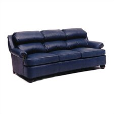 Cushion Back Pub Leather Sofa