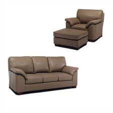 Regis Leather Sofa and Chair Set