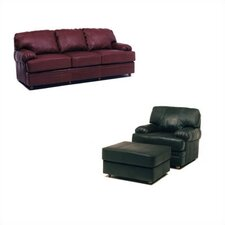 Dakota Leather Sleeper Sofa and Chair Set