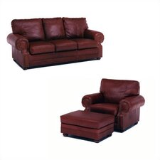 Chelshire Leather Sleeper Sofa Living Room Collection