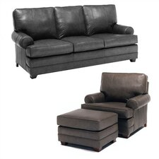 Bridgeport Leather Sleeper Sofa and Chair Set