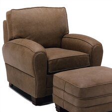 Kensington Leather Chair and Ottoman