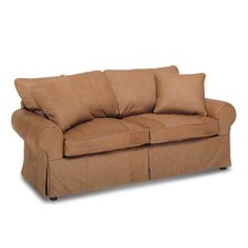 Skirted Leather Sofa