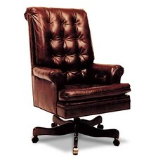 Buttoned High-Back Leather Executive Chair