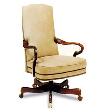 Gooseneck High-Back Leather Swivel / Tilt Office Chair