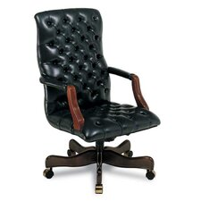 Tufted High-Back Leather Swivel / Tilt Office Chair