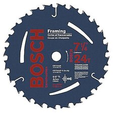 "Carbide Construction/Framing Blade With 24 TPI, 5/8"" With 13/16"" Diamond Arbor, 20° Hook Angle And 0.068"" Kerf"