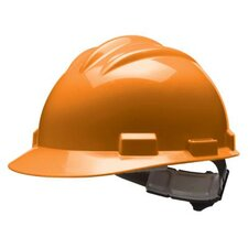 Series Orange Safety Cap With 4 Point Ratchet Headgear And Cotton Browpad