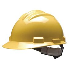 Series Yellow Safety Cap With 4 Point Ratchet Headgear And Cotton Browpad
