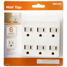 6 Outlets Front Entry Wall Adaptor