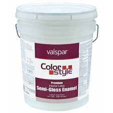 5 Gallon White ColorStyle® Interior Latex Semi Gloss Enamel Paint