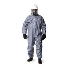 Gray Tychem® CPF 2 Chemical Resistant Coverall With Zip Front, Hood, Double Storm Flap And Taped Seams (6 Per Case)