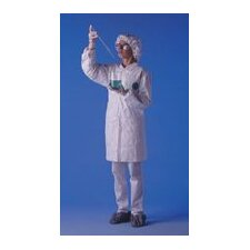 Large Tyvek® White Lab Coat With Serged Seams Collar And Front Snap Closure