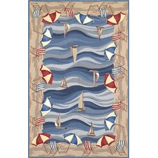 Colonial On The Beach Novelty Rug