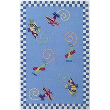 Kidding Around Flying Fun Kids Rug
