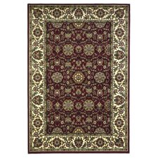 Cambridge Red/Ivory Floral Agra Rug