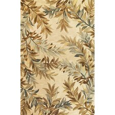 Sparta Ivory Tropical Branches Rug