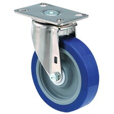 Medium Duty Institutional Casters - 4x1-1/2 institutional 97plate swivel caster