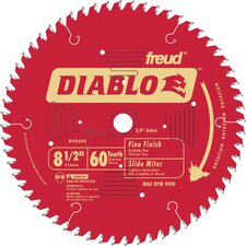 "8-1/2"" 60T Diablo™ Fine Finish Work Miter/Slide Miter Saw Bl  D0860S"