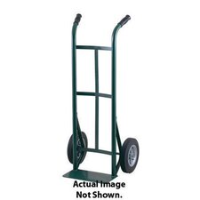 "51T Series Dual Handle Steel Hand Truck With 10"" X 2 1/2"" Offset Poly Hub Solid Rubber Wheel"