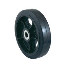 "10"" X 2 1/2"" Steel Hub Zerk Mold-On Rubber Wheel"