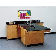 Perimeter Workstation With Door And Sink & Fixtures