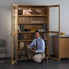 Hinged Storage Case With Oak Framed Glass Doors