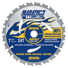 "7-1/4"" 24 TPI Marathon® With WeldTec Circular Saw Blade 24"