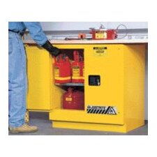 "X 35"" X 22"" Yellow 22 Gallon Undercounter Sure-Grip® EX Safety Cabinet With 2 Manual Doors And 1 Shelf"