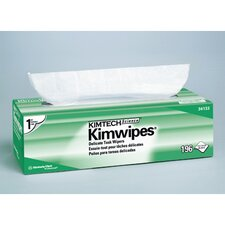 Kimtech Science Kimwipes Delicate Task Wipers, 196/Box in White