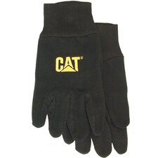 Large Black Jersey PVC Micro Dotted Palm Gloves C