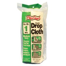 9' X 12' 1 Millimeter Medium Duty Clear Plastic Drop Cloth DCHK-1