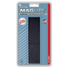 Nylon Full Flap Holster for Mini Mag-Lite AAA Flashlight (Black)