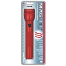 2-Cell D White Star Krypton Flashlight (Red)