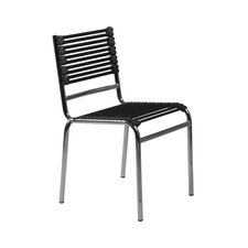 Bungie-S Flat Stacking Chair in Black