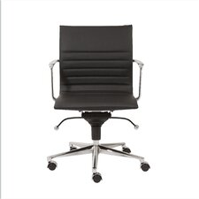 Kyler Low-Back Leatherette Office Chair with Arms