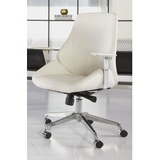 Bergen Low-Back Leatherette Office Chair with Arms