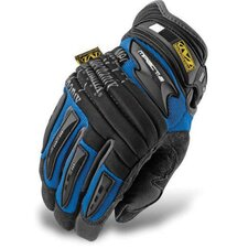Large Blue M-Pact® 2 Mechanics Gloves With Double Layer Synthetic Leather Palm And Spandex Wrist Panel Insert