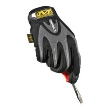 Black M-Pact® Mechanics Gloves With Synthetic Leather Palm And Spandex Top