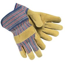 Grain Leather Palm Gloves - pigskin gloves 2-1/2safetycuff split leath