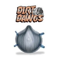 Dirt Dawgs® N95 Particulate Disposable Respirator With Dura-Mesh® Shell - NIOSH 42CFR84 (20 Per Box)