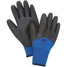Black And Blue Nylon NorthFlex-Cold Grip™ Coated Work Gloves With Foamed PVC Coating And Synthetic Lining