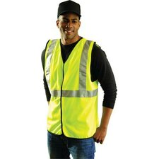Medium Single Band High Visibility Fluorescent Yellow Class 2 Vest With 3M™ Scotchlite™ Reflective Tape On Chest And Shoulders, Hoo