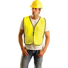 Large Yellow Solid Safety Vest Without Reflective Tape