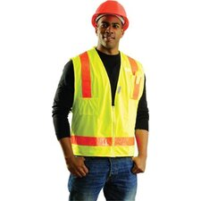 Yellow OccuLux® L'Orange Surveyor's Vest With 13 Pockets And Zipper